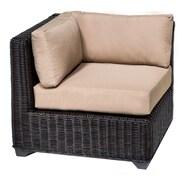 TK Classics Venice Corner Chair w/ Cushions; Wheat