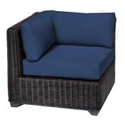 TK Classics Venice Corner Chair w/ Cushions; Navy