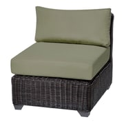 TK Classics Venice Armless Chair w/ Cushions (Set of 2); Cilantro