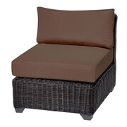 TK Classics Venice Armless Chair w/ Cushions (Set of 2); Cocoa