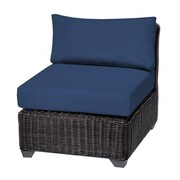 TK Classics Venice Armless Chair w/ Cushions (Set of 2); Navy