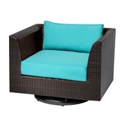 TK Classics Barbados Swivel Chair w/ Cushions; Aruba