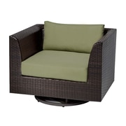 TK Classics Barbados Swivel Chair w/ Cushions; Cilantro