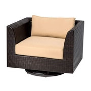 TK Classics Barbados Swivel Chair w/ Cushions; Sesame