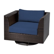 TK Classics Barbados Swivel Chair w/ Cushions; Navy