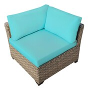 TK Classics Monterey Corner Chair w/ Cushion; Aruba