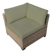 TK Classics Monterey Corner Chair w/ Cushion; Cilantro