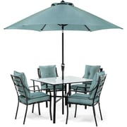 Hanover Lavallette 5 Piece Dining Set; Ocean Blue