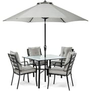 Hanover Lavallette 5 Piece Dining Set; Gray
