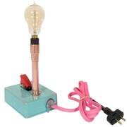 Joseph Allen Custom Vintage Industrial 7.25'' Table Lamp; Blue