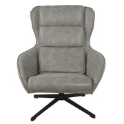 New Pacific Direct Gayle Swivel Arm Chair; Nubuck Gray