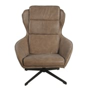 New Pacific Direct Gayle Swivel Arm Chair; Nubuck Latte