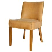 New Pacific Direct Pierson Bonded Leather Side Chair (Set of 2); Cider