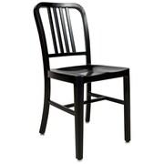 LeisureMod Alton Modern Side Chair; Black