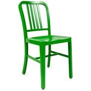 LeisureMod Alton Modern Side Chair; Green