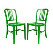 LeisureMod Alton Modern Side Chair (Set of 2); Green