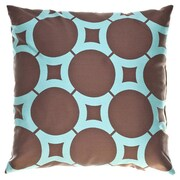 Softline Home Fashions Element Circle Throw Pillow; Chocolate
