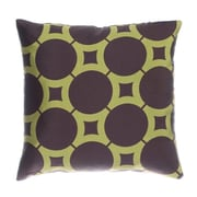 Softline Home Fashions Element Circle Throw Pillow; Chocolate / Kiwi