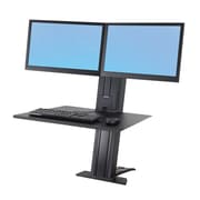"Ergotron® WorkFit-SR 33-407-085 24"" Dual Monitor Sit-Stand Desktop Workstation"