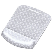 Fellowes® PlushTouch™ Mouse Pad Wrist Rest, Gray Lattice (9549701)