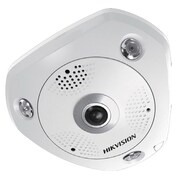Hikvision® DS-2CD6362F-I Wired Indoor Fisheye Network Camera, 6MP, White