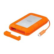 LaCie Rugged USB 3.0 Portable External Solid State Drive, 500GB, Orange/Silver (STEZ500400)
