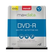 Maxell® 639016 4.7GB 16x Sliver DVD Recordable Media, 100/Pack