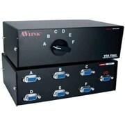 QVS® CA298-6S HD15 VGA/SXGA Premium Manual Switch