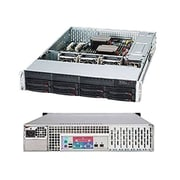 Supermicro® SuperChassis 2U Rack Mountable Server Chassis, Black (SC825TQ-563LPB)