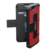 "Urban Armor Gear IPH6/6SF-RED-VP Magma Soft Rubber Folio Case for 4.7"" Apple iPhone 6/6s, Red/Black"