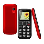 Worryfree Gadgets Back Camera/FM and Flashlight Phone, Red, Micro USB (SOSPHONE-RED)