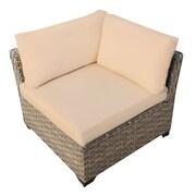 TK Classics Monterey Corner Chair w/ Cushion; Sesame