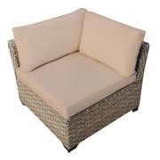 TK Classics Monterey Corner Chair w/ Cushion; Wheat