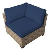 TK Classics Monterey Corner Chair w/ Cushion; Navy
