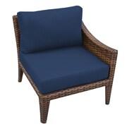 TK Classics Manhattan Left Armless Chair w/ Cushions; Navy