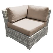 TK Classics Fairmont Corner Chair w/ Cushions; Wheat