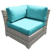 TK Classics Fairmont Corner Chair w/ Cushions; Aruba