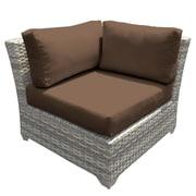 TK Classics Fairmont Corner Chair w/ Cushions; Cocoa