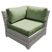 TK Classics Fairmont Corner Chair w/ Cushions (Set of 2); Cilantro