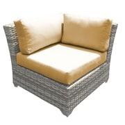 TK Classics Fairmont Corner Chair w/ Cushions (Set of 2); Gray