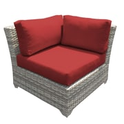 TK Classics Fairmont Corner Chair w/ Cushions (Set of 2); Sesame