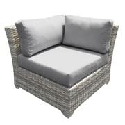 TK Classics Fairmont Corner Chair w/ Cushions (Set of 2); Terracotta
