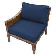 TK Classics Manhattan Right Armless Chair w/ Cushions; Navy