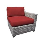 TK Classics Fairmont Left Arm Chair w/ Cushions; Terracotta