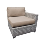 TK Classics Fairmont Left Arm Chair w/ Cushions; Wheat