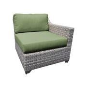 TK Classics Fairmont Left Arm Chair w/ Cushions; Cilantro