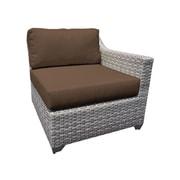 TK Classics Fairmont Left Arm Chair w/ Cushions; Cocoa