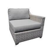 TK Classics Fairmont Left Arm Chair w/ Cushions; Gray