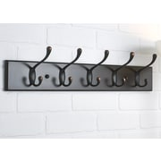 Richelieu Utility Wall Mounted Coat Rack; Espresso/Brushed Oil-Rubbed Bronze