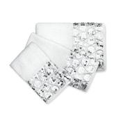 Popular Bath Products Sinatra 3 Piece Towel Set; White